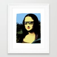 mona lisa Framed Art Prints featuring Mona Lisa by Bright Enough💡