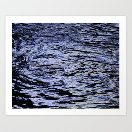 Abstract Lights on River Water in Japan 4 Art Print