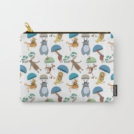 Parachuting Animals Carry-All Pouch