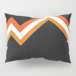 Athletic Retro Orange #kirovair #home #decor #retro #orange #gymwear #athletic #design Pillow Sham