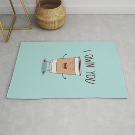 I Own You, Funny, Cute, Coffee Quote Rug