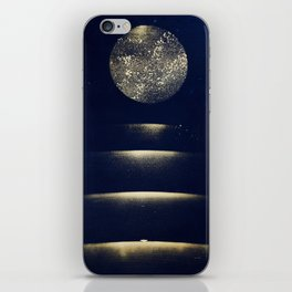 Staircase to the Moon (Gold) iPhone Skin