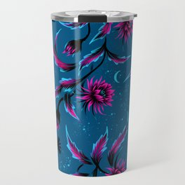 Queen of the Night - Teal / Purple Travel Mug