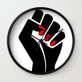 The woman's raised fist1 Wall Clock
