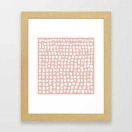 Dots / Pink Framed Art Print