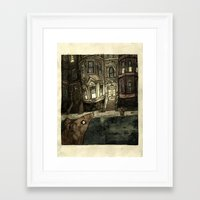rat Framed Art Prints featuring Rat by Jordan Walsh