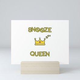 Snooze Queen Mini Art Print