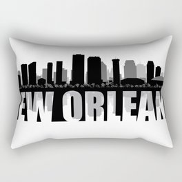 New Orleans Silhouette Skyline Rectangular Pillow
