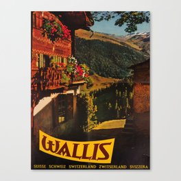 retro iconic Wallis poster Canvas Print