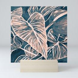 Pop Anthurium Leafs and Flowers Mini Art Print