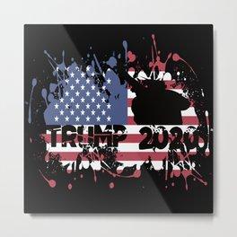Trump Trump 2020 Trump Flag Usa Metal Print