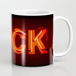 Glowing Red Vintage Neon Letters Thick Coffee Mug