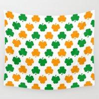 irish Wall Tapestries featuring Irish Shamrocks by The Wellington Boot