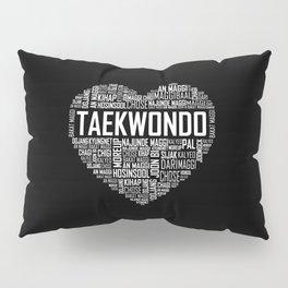 Love Taekwondo Heart Pillow Sham