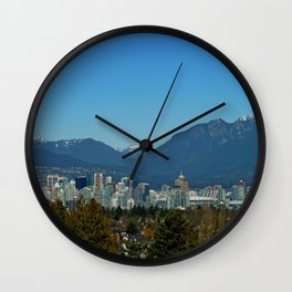 Vancouver and the North Shore Mountains Wall Clock