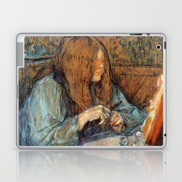 "Henri de Toulouse-Lautrec ""Madame Poupoule at Her Dressing Table"" Laptop & iPad Skin"