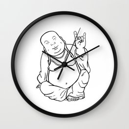 Peace, Love, and Rock n' Roll Wall Clock