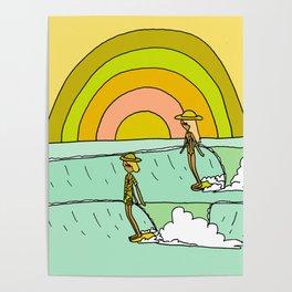 follow the light rainbow sunrise daydream hang 10 Poster