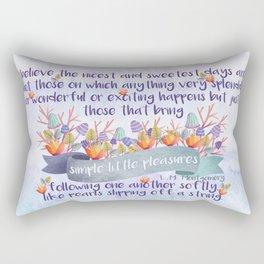 Anne of Avonlea Quote Rectangular Pillow
