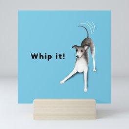 Whip it! (Light Blue) Mini Art Print