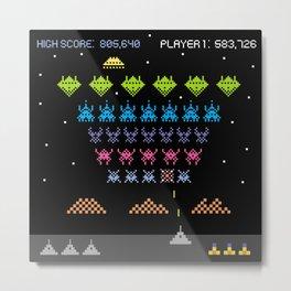 Space Intruders Metal Print