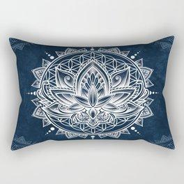 Lotus Mandala (white) Rectangular Pillow