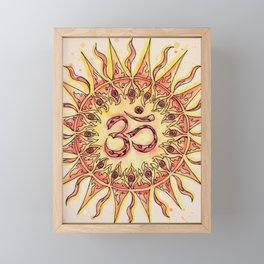 Summer Om Framed Mini Art Print