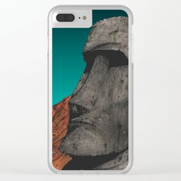 Easter Island 1 Clear iPhone Case