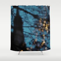 sparkles Shower Curtains featuring Prague Sparkles by Bella Blue Photography