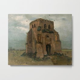 The old church tower at Nuenen by Vincent van Gogh, 1885 Metal Print