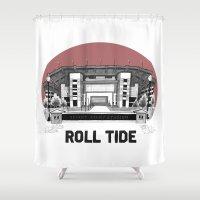 alabama Shower Curtains featuring Alabama Print by EPAR College