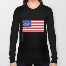 Pixel art USA flag steady Long Sleeve T-shirt