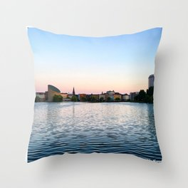 Clear & Blurry Lake Throw Pillow