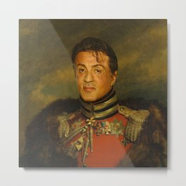 Sylvester Stallone - replaceface Metal Print