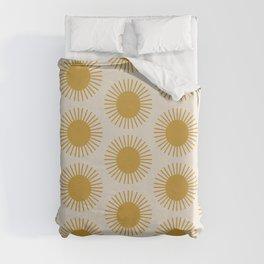 Golden Sun Pattern Duvet Cover