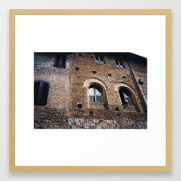 Italian Woman out of Window Framed Art Print