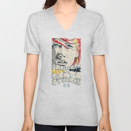 Leeloo Dallas portrait Unisex V-Neck