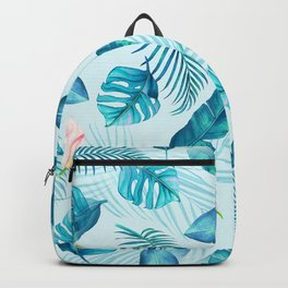 Tropical Pattern - monstera & toucans 6 Backpack