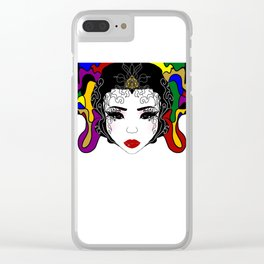 Geisha design Clear iPhone Case
