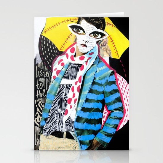 ::Man in the Rain:: Stationery Cards