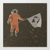 dreamer Canvas Prints featuring Dreamer by Wolves In Space