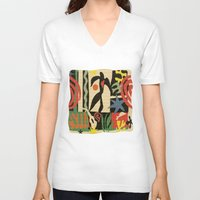 matisse V-neck T-shirts featuring Inspired to Matisse vintage t-shirt by Chicca Besso