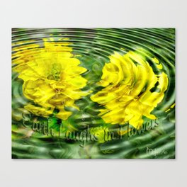 """Earth Laughs in Flowers"" by Artist McKenzie http://www.McKenzieArtStudio.com Canvas Print"