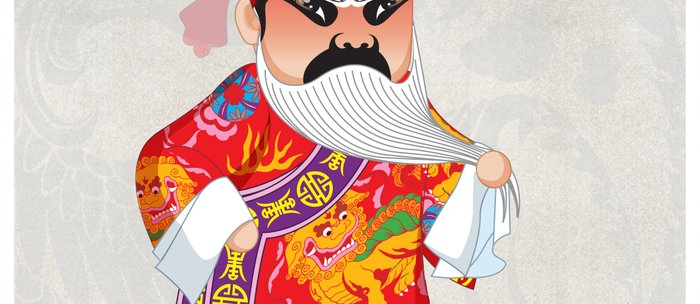 Beijing Opera Character LianPo Coffee Mug
