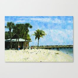 Yacht Club Beach Canvas Print