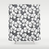 hibiscus Shower Curtains featuring Hibiscus by MadexDesigns