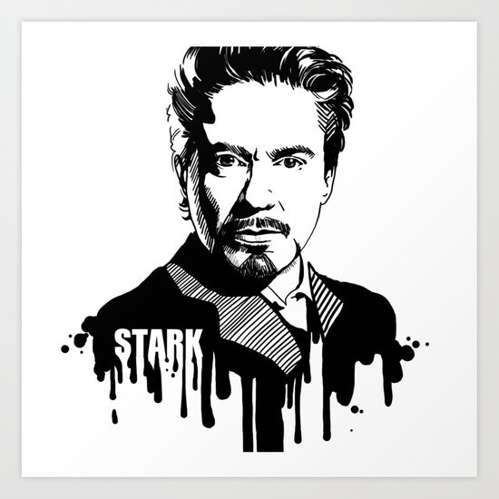 Avengers in Ink: Iron Man Art Print