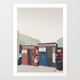 Photo Booth Art Print