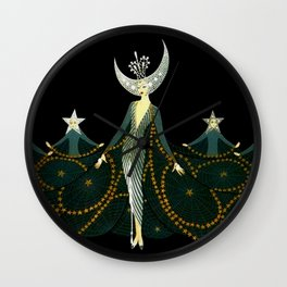 "Art Deco Design ""Queen of the Night"" Wall Clock"