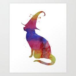 Witch Cat Art Print